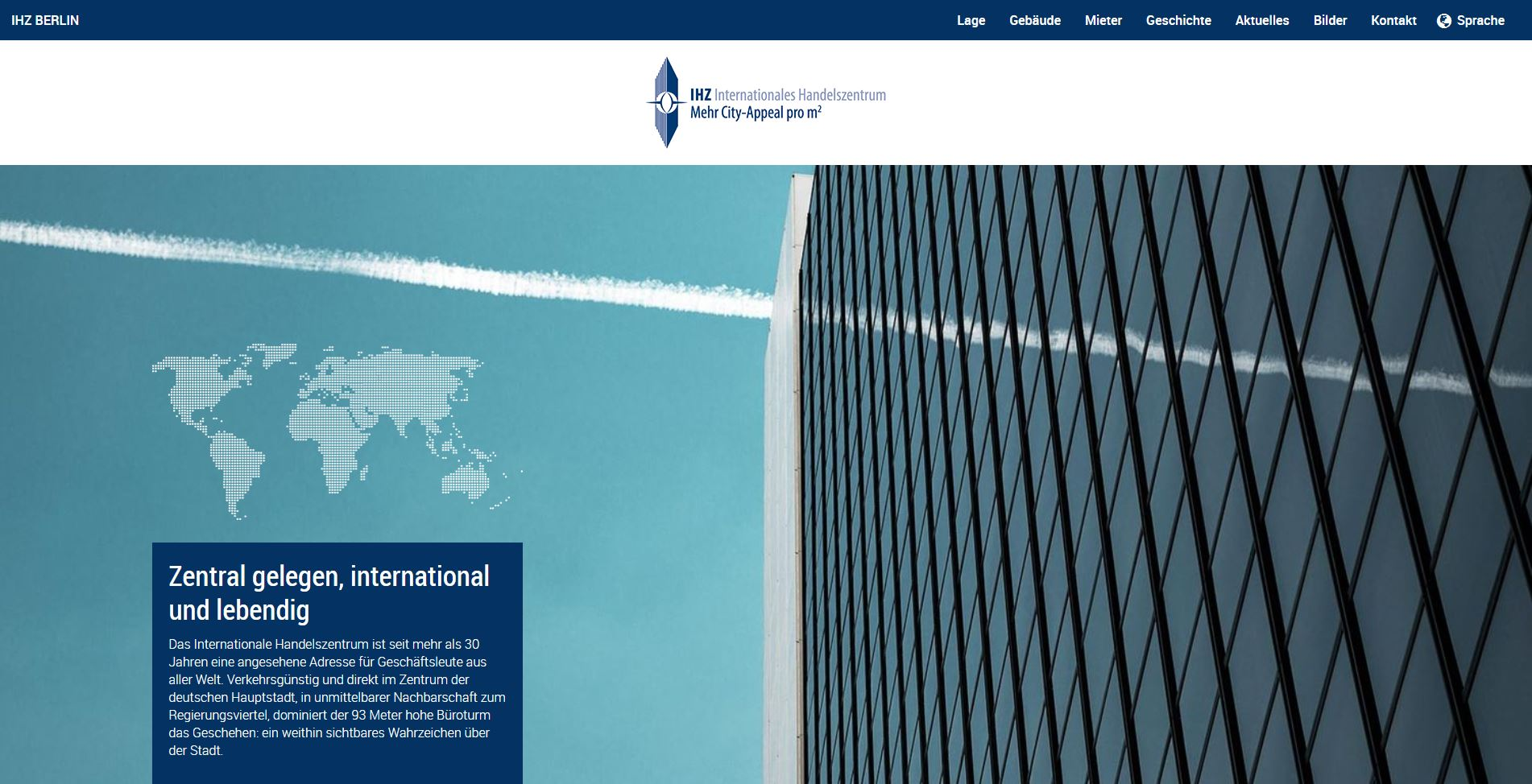 Website Internationales Handelszentrum